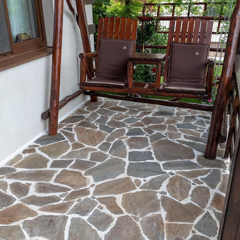 Polygonalplatten Schiefer Rusty Brown20qm = 200 205 stk
